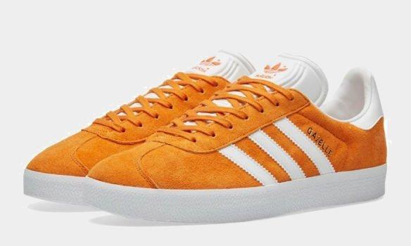 Фото Adidas Gazelle оранжевые - 3